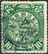 Stamp China Coil Dragon Chinese Imperial Post 10c 1898-1900 Used Lot15 - China
