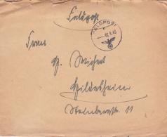 Feldpost WW2: From Cherbourg, France - Harbour Commander Hafenkommandant Cherbourg  FP 04312F P/m 2.8.1943 - Letter Insi - Militaria