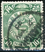 Stamp China Coil Dragon Chinese Imperial Post 10c 1898-1900 Used Lot44 - China