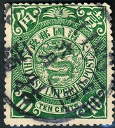 Stamp China Coil Dragon Chinese Imperial Post 10c 1898-1900 Used Lot57 - China