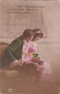 Carte Postale Ancienne Fantaisie -  Couple - Amoureux - Fantasia