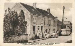 LA TUILERIE (par Saint Chéron) - Maison Kreel,café-Tabac-Alimentation.(voiture Autocar) - Saint Cheron