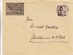 Allemagne - Empire - Lettre Illustrée De 1937 ° - Timbre Du Négociant Müller - Lance - Bouclier - Storia Postale