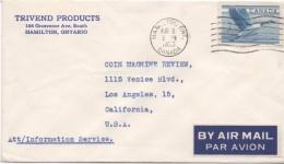 2648  Carta Aerea Hamilton Ontario 1956
