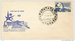 FIRST DAY COVER- BRASIL- WERELDTENTOONSTELLING TE BRUSSEL IN 1958- EXPO 1958.