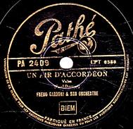 78 T. - 25 Cm - état  B -  FREDO GARDONI - UN AIR D'ACCORDEON - PICCINA LA BELLE - 78 G - Dischi Per Fonografi