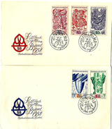 TSJECHOSLOVAKIJE- FIRST DAY COVER- EXPO 1958 TE BRUSSEL- DAGEN VAN TSJECHO-SLOVAKIJE.