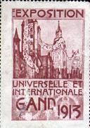 VIGNETTE ( SANS GOMME ) DE L'EXPOSITION DE GAND 1913 - Weltausstellung