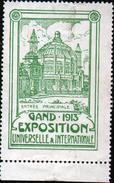 VIGNETTE ( SANS GOMME ) DE L'EXPOSITION DE GAND 1913 - Expositions Universelles