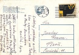 L1804 - Czechoslovakia (1964) Praha 025 (postcard: Prague, Charles Bridge) Tariff: 30h (stamp: Silesian Museum In Opava)