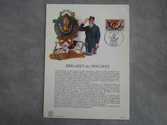 FDC Format Demi-A4 - Brigade Des Douanes - Paris 27/11/1976 - FDC
