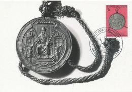 D27448 CARTE MAXIMUM CARD 1966 BELGIUM - BULLE D'OR CHARLES QUINT CP ORIGINAL - Münzen
