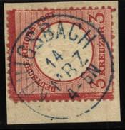 D.R.Brustschildmarke Mit Stempel Königsbach In Blau  (126) - Deutschland