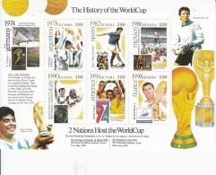 2001 Guyana History Of World Cup Football 2 Miniature Sheet Of 6 & 2 Souvenir Sheets  Complete MNH.
