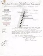 02 - Aisne - SOISSONS - Facture SOCIETE DES SUCRERIES ET DISTILLERIE DU SOISONNAIS – 1940 - REF 254A - 1900 – 1949