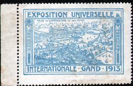 2 VIGNETTES ( SANS GOMME ) DE L'EXPOSITION DE GAND 1913 - Expositions Universelles