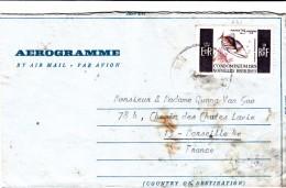 NOUVELLES-HEBRIDES 1969 AEROGRAMME LUGANVILLE POUR MARSEILLE RARE TEXTE EN VIETNAMIEN /  7787 - Timbres