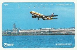 Giappone - Tessera Telefonica Da 105 Units T177 - NTT, - Avions