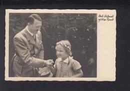 Dt. Reich AK Adolf Hitler Des Führers Gütige Hand 1937 Gelaufen - Personaggi Storici