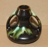 Faïence Ancienne  Belge - Vase En Grés Flammée Signée Belgium - Céramiques