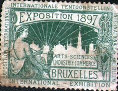 VIGNETTE ( SANS GOMME ) DE L'EXPOSITION DE GAND 1897, En L'état (salissures) - Expositions Universelles