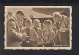 Dt. Reich AK Adolf Hitler Der Führer Mit HJ Am Obersalzberg - Historical Famous People