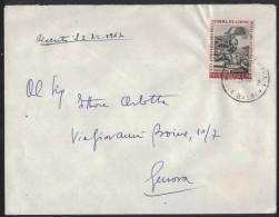 AE43      Storia Postale  1967  Enrico Fermi £.50 Isolato In Tariffa Su Lettera - 1961-70: Storia Postale
