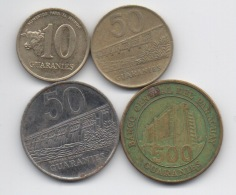 Paraguay : Lot De 4 Pièces 1988-2002 - Paraguay