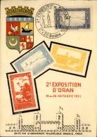 FRANCE / ALGÉRIE - Carte Et Oblitération De La 2ème Exposition D' Oran En 1951 - A Voir - L 5670 - Gebraucht