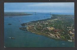 DF / ETATS-UNIS / NEW YORK / VUE AÉRIENNE DE L'ENTRÉE DU PORT / CIRCULÉE EN 1964 - Multi-vues, Vues Panoramiques