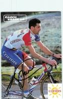 Cédric VASSEUR , Autographe Manuscrit, Dédicace . 2 Scans. Cyclisme. Cofidis - Cycling