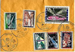 BELGIË- FIRST DAY COVER- EXPO 1958 TE BRUSSEL- BRUSSEL EXPO-VOLLEDIGE REEKS OP BRIEF.