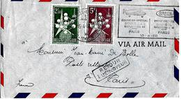 BELGIË-SPECIALE KOERIER NAAR PARIJS PER HELIKOPTER - SABENA- WERELDTENTOONSTELLING 1958 TE BRUSSEL- EXPO 1958 TE BRUSSEL