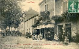 Tarn - Monesties - Un Coin De La Promenade - Facade Du Foirail - Café Bosc - Monesties