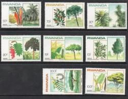 1984 Rwanda Rwandaise  Trees Arbres Complete Set Of 8 MNH. - Rwanda