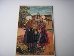 ILLUSTRATION D'HOMUALK  * POITIERS-MONTBERNAGE *  EN PARCOURANT LE POITOU  (N° 7) CPSM 1955 - Homualk