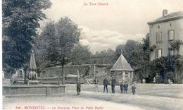 Tarn - Monesties - La Fontaine, Place Du Poids Public - Monesties