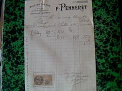 Facture Bois Et Sciage Penneret A Jointville Le Pont Annee 1917 - Francia