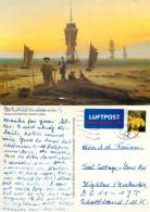 Caspar David Friedrich, Art Painting Postcard Posted 2009 Stamp - Peintures & Tableaux