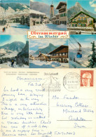 Winter, Oberammergau, Germany Postcard Posted 1975 Stamp - Oberammergau