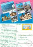Ettal-Linderhof, Oberammergau, Germany Postcard Posted 2001 ATM Meter + EAST ANGLIAN TPO Postmark - Oberammergau