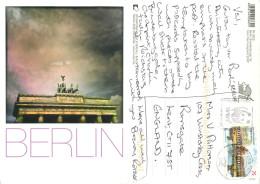 Brandenburger Tor, Berlin, Germany Postcard Posted 2013 WWF Postmark Stamp - Mitte