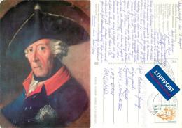 J H Chr Franke, Friedrich II, Art Painting Postcard Posted 2000 Stamp - Peintures & Tableaux
