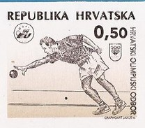 1995   BOCCE PETANQUE  NOK-OLYMPISCHE KOMITEE HRVATSKA KROATIEN RRR  IMPERFORATE RRR  BRUCK PHASE II  MNH