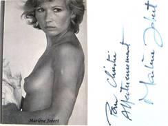 Actrice - Marlène JOBERT - Signé / Hand Signed / Dédicace Authentique / Autographe - Artistes