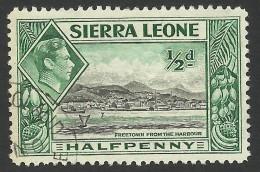 Sierra Leone, 1/2 P. 1938, Sc # 173, Mi # 151, Used - Sierra Leone (...-1960)