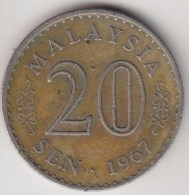 @Y@   Maleisie  20 Sen  1967  (4181) - Malaysie