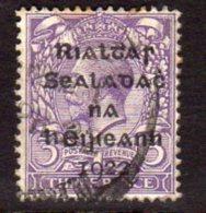 Ireland 1922 3d ´Rialtas´ Overprint, Dollard Printing, Used (SG5) - 1922 Provisorische Regierung