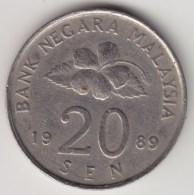 @Y@   Maleisie  20 Sen  1989  (4189) - Maleisië