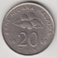 @Y@   Maleisie  20 Sen  1989  (4190) - Maleisië